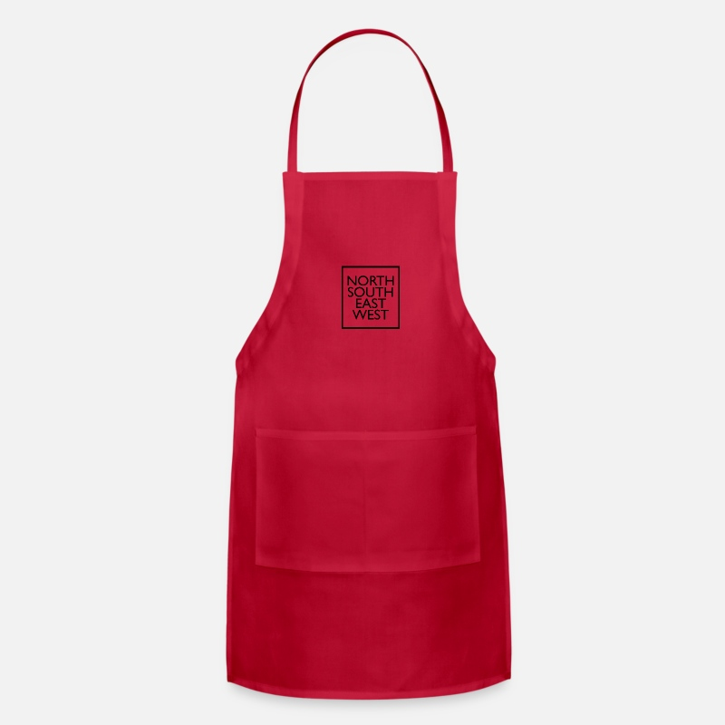 South America Aprons - north south east west - Apron red