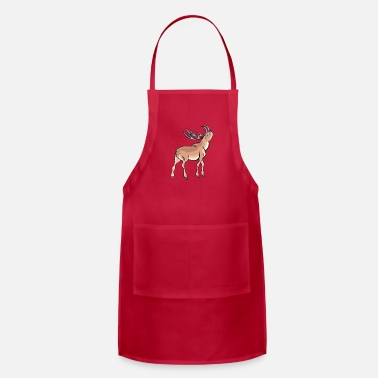 Wild Deer Angry Deer Wild Animal Antlers 44746 - Adjustable Apron