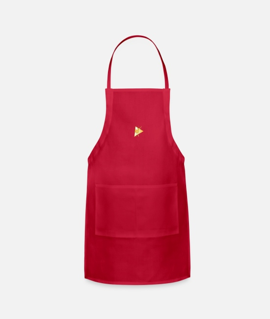 Stag Aprons - Golden deer design - Apron red