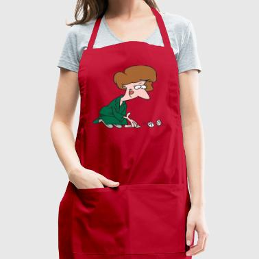 Woman Rolling Dice - Adjustable Apron