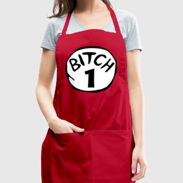 Bitch 1 Funny Halloween Drunk Girl Bachelorette Pa - Adjustable Apron