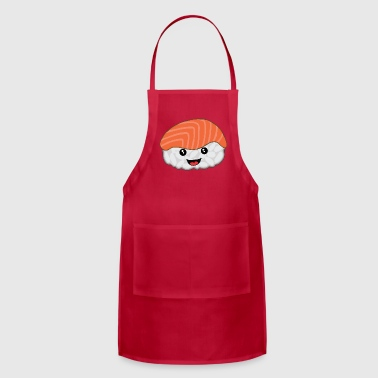 Salmon sushi with rice funny gift - Adjustable Apron