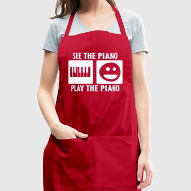 See the Piano Play the Piano in White - Adjustable Apron