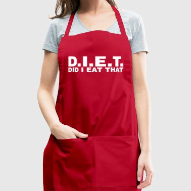 DIET Did I Eat That - Adjustable Apron