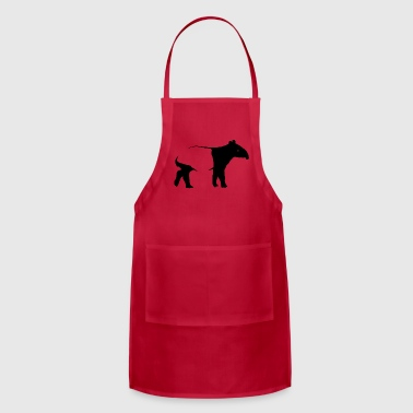 tapir silhouette exotic animal pure nature gift - Adjustable Apron