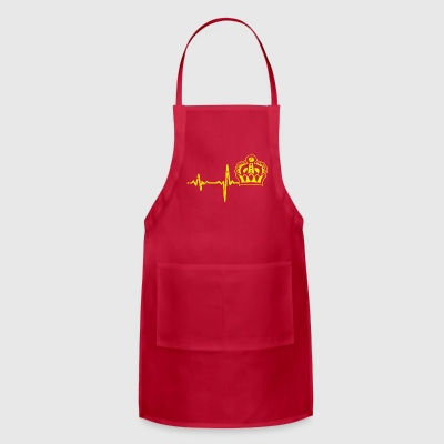 shirt gift heartbeat queen king - Adjustable Apron