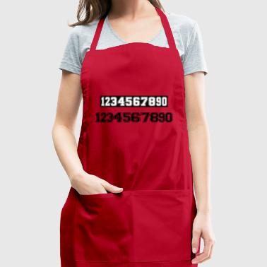 game number - Adjustable Apron