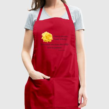 Proverbs 31:30 - Adjustable Apron