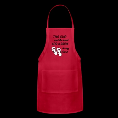 the sun and the sand - Adjustable Apron