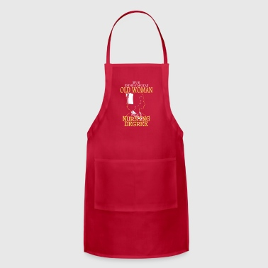 OLD WOMA NURSING DEGREE - Adjustable Apron