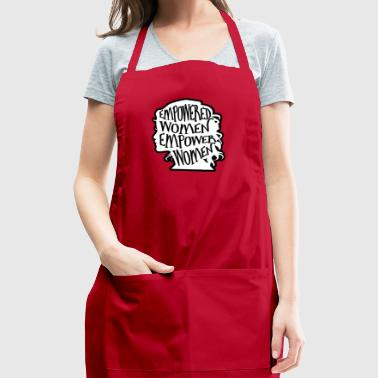 Empowered Woman Black Outline - Adjustable Apron