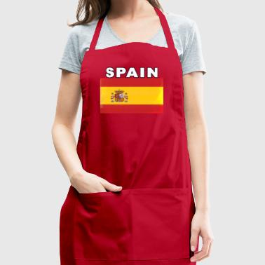 Spain Distressed Flag Detailed Original - Adjustable Apron