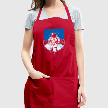 Astronaut moon Europe flag gift idea - Adjustable Apron