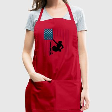 climb american sport flag - Adjustable Apron