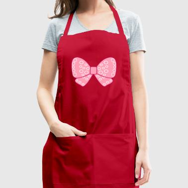Pink girly bow - Adjustable Apron