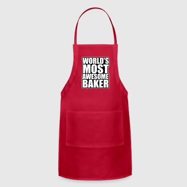 world s most awesome baker - Adjustable Apron