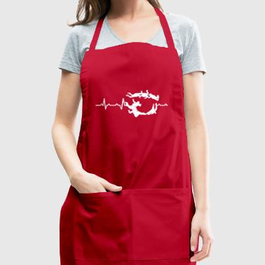 Skydiving Extreme Sports Heartbeats Gift - Adjustable Apron