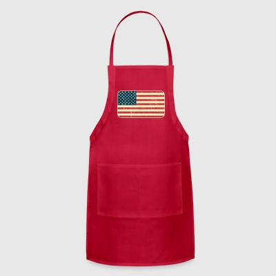 Grungy USA Flag - Adjustable Apron