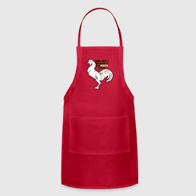 Big White Cock - Adjustable Apron