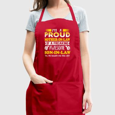Proud Mother In Law Of Awesome Son In Law T Shirt - Adjustable Apron