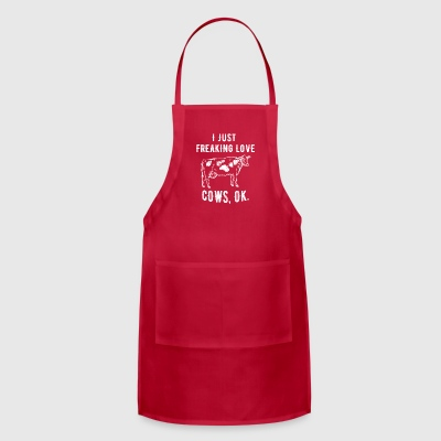 I just freaking love cows - Adjustable Apron
