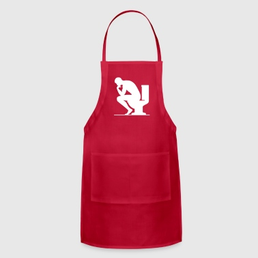 A Man Sitting On The Toilet - Adjustable Apron