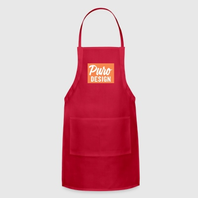 white_logo_color_background - Adjustable Apron