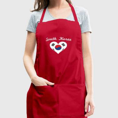 South Korea Flag Heart - Adjustable Apron