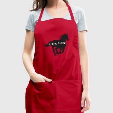 i love - Adjustable Apron