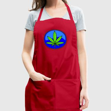 cannabis blue logo - Adjustable Apron