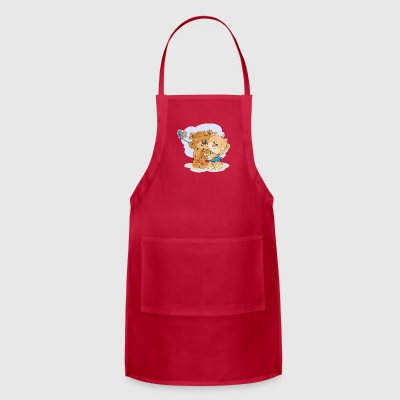 A pair of loving bears love selfie - Adjustable Apron