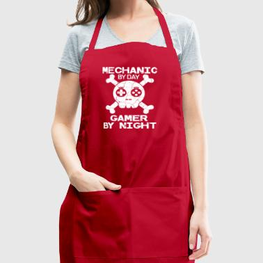 Mechanic By Day Gamer By Night Gift - Adjustable Apron