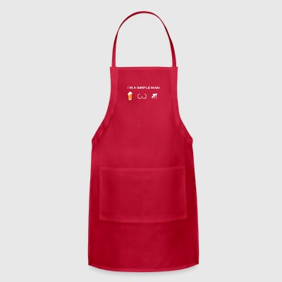 simple man like boobs bier beer titten running ren - Adjustable Apron