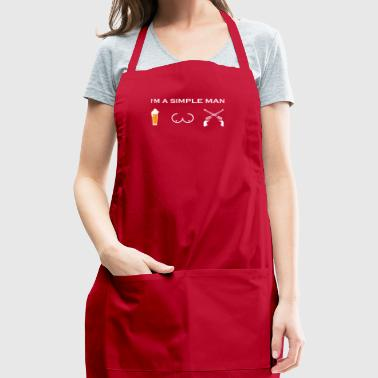 simple man like boobs bier beer titten sheriff pol - Adjustable Apron