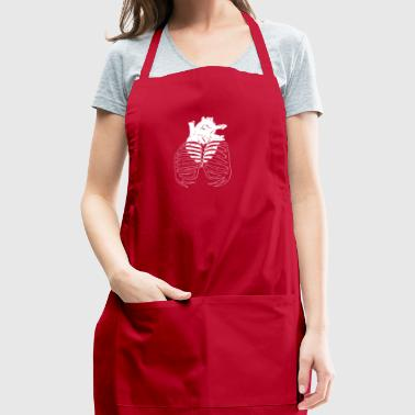 Heart Cage (white) - Adjustable Apron