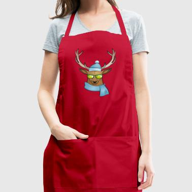 cool stag (winter edition) - Adjustable Apron