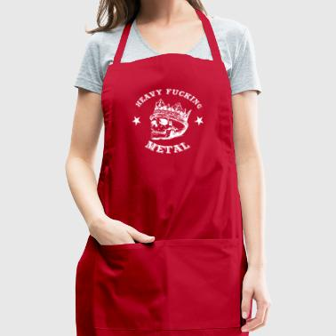 T Shirt Heavy Metal Man Woman Skull present - Adjustable Apron