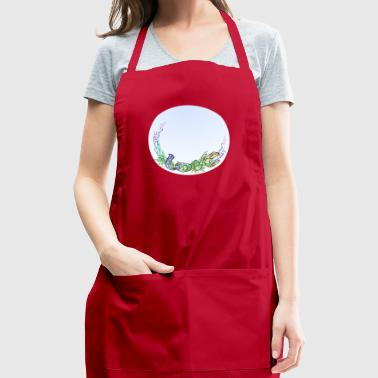 Love circle romantic design - Adjustable Apron