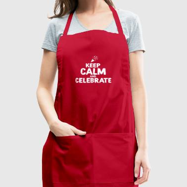 Keep Calm and celebrate Wedding Party - Adjustable Apron