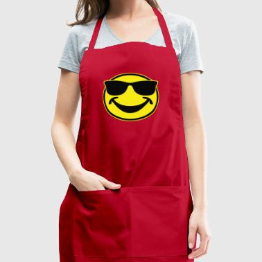 COOL yellow SMILEY BRO with sunglasses - Adjustable Apron