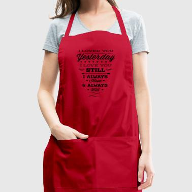 I_will_love_you_forever-01 - Adjustable Apron