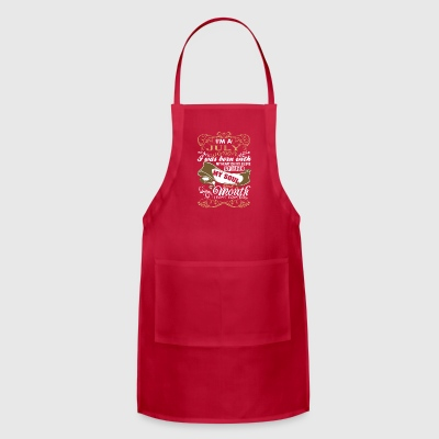 Im A July Woman I Was Born With My Heart - Adjustable Apron