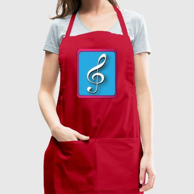 treble clef - Adjustable Apron