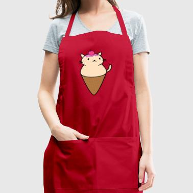 Adorable Cat On An Ice Cream Cone - Adjustable Apron
