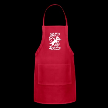 Black Soft Kitty Funny - Adjustable Apron