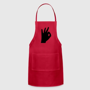scuba diver's ok sign - Adjustable Apron