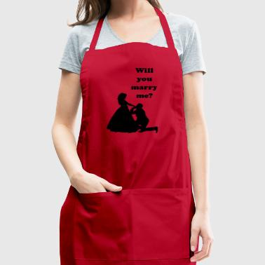 Marriage proposal wedding engagement idea romantic - Adjustable Apron