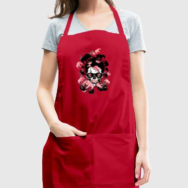 skull pipe hipster elephant pink smoking - Adjustable Apron