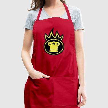 Chef's hat on fire - Adjustable Apron