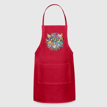 Colourful Cat - Adjustable Apron